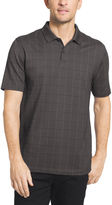 Van Heusen Short Sleeve Flex Printed Windowpane Polo Big and Tall
