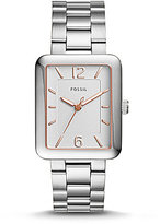 Fossil Atwater Rectangle Analog Bracelet Watch