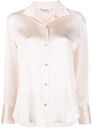 Vince Spread Collar Silk Blouse