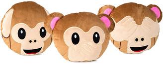 Yuka Monkey Emoji 3Pc Set Pillow