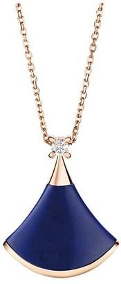 Bvlgari Divas' Dream 18K Rose Gold, Lapis Lazuli & Diamond Pendant Necklace