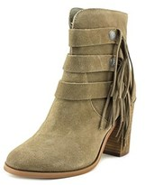 Yellow Box Upon Round Toe Suede Ankle Boot.