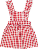 Sweet & Soft Red & White Gingham Apron Dress - Infant