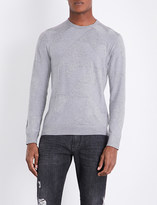 Armani Jeans Eagle intarsia knitted jumper