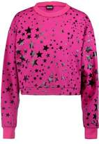 Just Cavalli Metallic Printed Cotton-Jersey Sweater