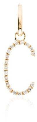 Rosa De La Cruz 18kt yellow gold diamond C charm