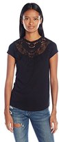 Almost Famous Women's Short Sleeve Victorian Top