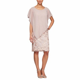 Alex Evenings Women's Short Popover Dress