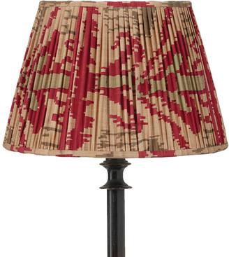 OKA 25cm Pleated Madura Silk Empire Lampshade - Red