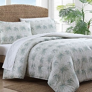 Tommy Bahama Distressed Palm Green King Comforter Set