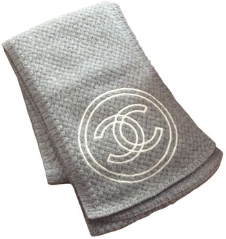 Chanel Grey Cashmere Scarves