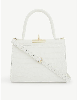 Gu De Play croc-embossed leather top-handle bag