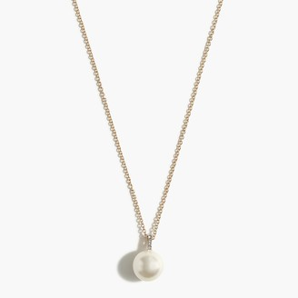 J.Crew Pearl charm pendant necklace