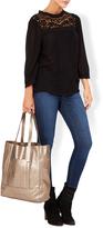 Monsoon Carina Suede & Leather Shopper Bag
