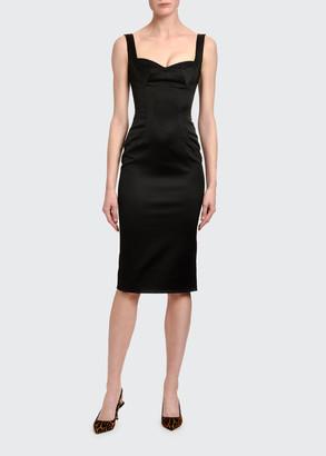 Dolce & Gabbana Satin Bustier Cocktail Dress