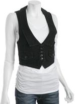 black denim 'Vivian' shrunken vest
