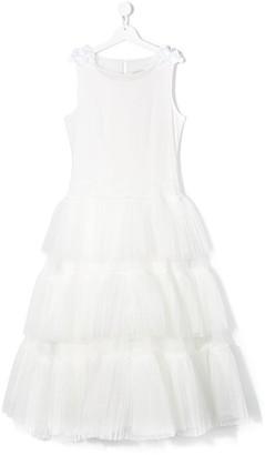 MonnaLisa TEEN tulle bridesmaid dress