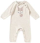 Jessica Simpson Baby Girls Newborn-9 Months Fox Sweater-Knit Coveralls