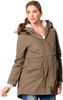 Motherhood Maternity Faux-Fur Hood Anorak Coat