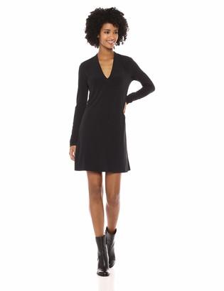 Kenneth Cole Women's Long Sleeve V-Neck Dress