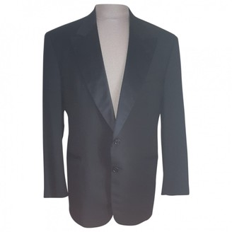 Valentino Black Wool Suits