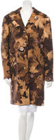 Moschino Printed Wool Knee-Length Coat