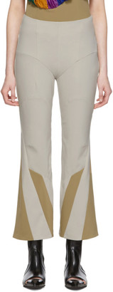 BEIGE Kiko Kostadinov Slim Twisted Motorcycle Trousers