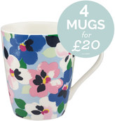 Cath Kidston Large Painted Pansies Stanley Mug