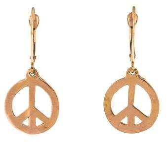 Helen Ficalora 14K Peace Sign Drop Earrings
