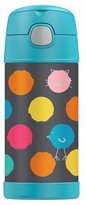 Thermos FUNTAINER Vacuum Insulated Stainless Steel Bottle CRCKT Happy Faces Pattern - 12oz