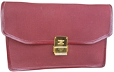 Celine Burgundy Cloth Clutch bag