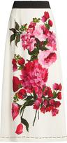 Dolce & Gabbana Peony-print crepe skirt