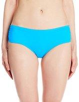 CoCo Reef Women's Color Blocked Side Shirred Bikini Bottom