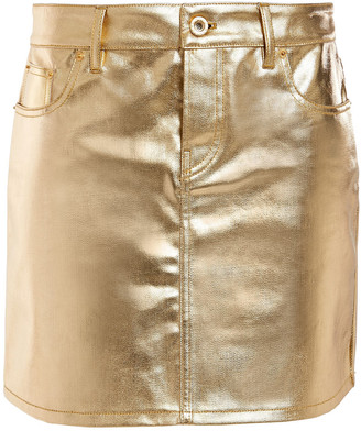 Paco Rabanne Metallic Coated-denim Mini Skirt