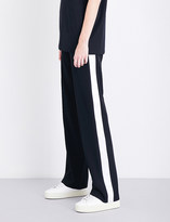 Givenchy Satin-trimmed high-rise wool jogging bottoms