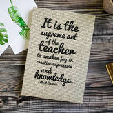 STUDY Bookishly Thank You 'Teacher' Quote Journal