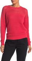 Michael Stars Arden Open Stitch Crew Neck Sweater