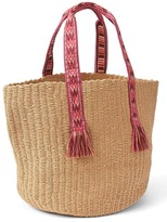 Gap Web handle straw tote