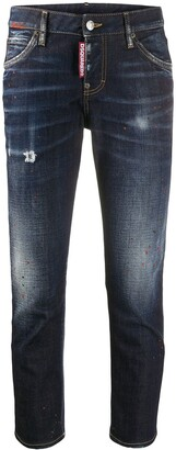 DSQUARED2 Patch Detail Cropped Jeans