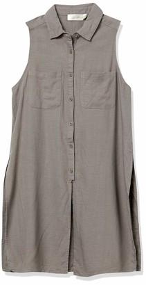 RD Style Women's Cotton Linen Button Front Tunic