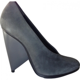Balenciaga Platform Courts Suede In Lead Color, Size 37 (Fits A Italian Size 36)