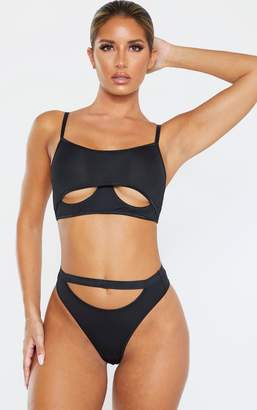 PrettyLittleThing Black Under Boob Wired Bralet