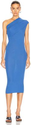 Rick Owens One Shoulder Dress in Blue | FWRD