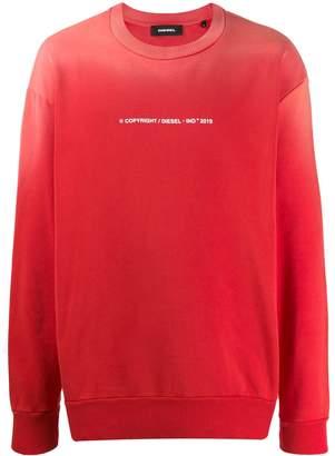 Diesel sun-faded effect sweatshirt