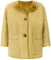 Desa 1972 furry interior button up coat