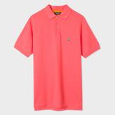 Paul Smith Men's Bright Pink Cotton-Pique Flag-Motif Polo Shirt