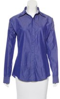Jean Paul Gaultier Chambray Button-Up Top