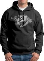 Sarah Men's Nashville Predators Platinum Logo Hoodie L