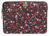 Kate Spade Boho Floral 13-Inch Laptop Sleeve - Black