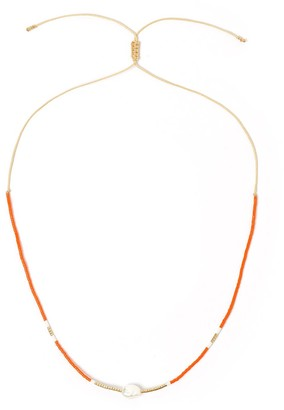 Arms Of Eve Taylor Pearl & Glass Beaded Necklace - Orange